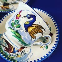 Pickman Spain - Coffee Duos x 5 - Hand Painted - 1920s | 1930s